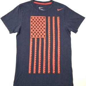 Nike Mens USA Soccer Squad Graphic American Flag S